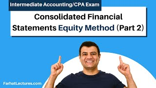 Consolidated Financial Statements--Equity Method (Part 2)Advanced Accounting |CPA Exam FAR| Ch 4 P 6