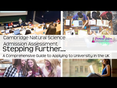 Cambridge Natural Science Admissions Assessment  (NSAA) UCAS and University #13