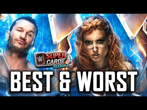 BEST AND WORST SHATTERED TIER CARDS!! | WWE SuperCard Season 5