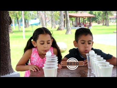 Reto De Soplar Una Pelota En Vasos Con Agua Youtube