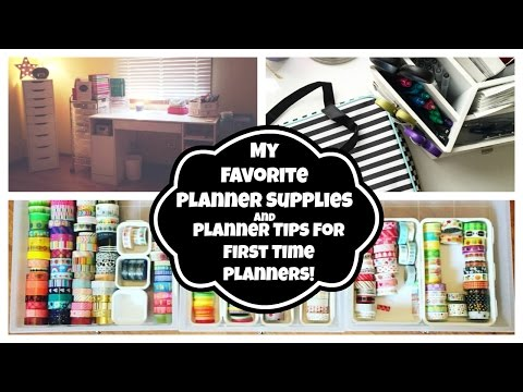 My Favorite Planner Supplies | Planner Tips For First Time Planners