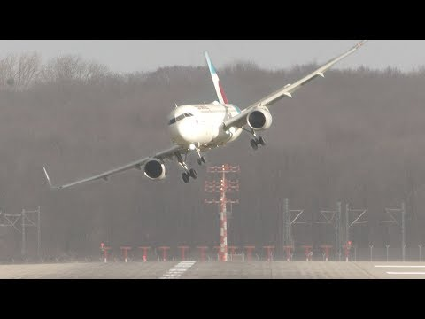 UNBELIEVABLE CROSSWIND LANDINGS during a STORM with 20 ABORT