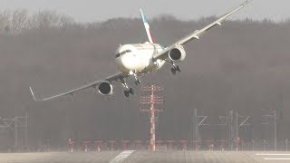 Video UNBELIEVABLE CROSSWIND LANDINGS during a STORM with 20 ABORTED LANDINGS - GO AROUND !! download MP3, 3GP, MP4, WEBM, AVI, FLV Juli 2018