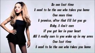 Ariana Grande - One Last Time Karaoke / Instrumental with lyrics on screen