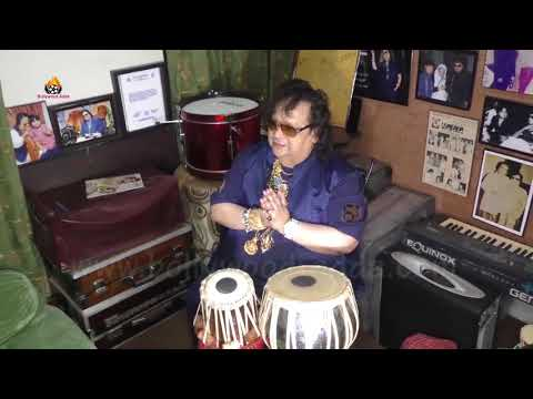 Singer Bappi Lahiri Special TABLA Performance At His Home    Guinness World Records