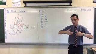 Developing the Binomial Theorem w/ Pascal's Triangle