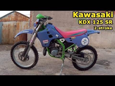 Kawasaki KDX 125 SR , обзор и тест-драйв. Kawasaki KDX 125 SR  2-stroke enduro, review & test drive