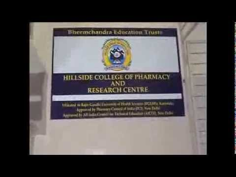Hillside Pharmacy College Bangalore India - The Mission & The Vision