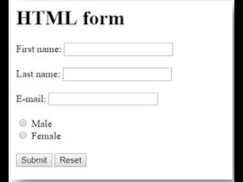 HTML FORMS TUTORIAL IN TELUGU FULL HD VDIEO MAKING PART 3 thumbnail