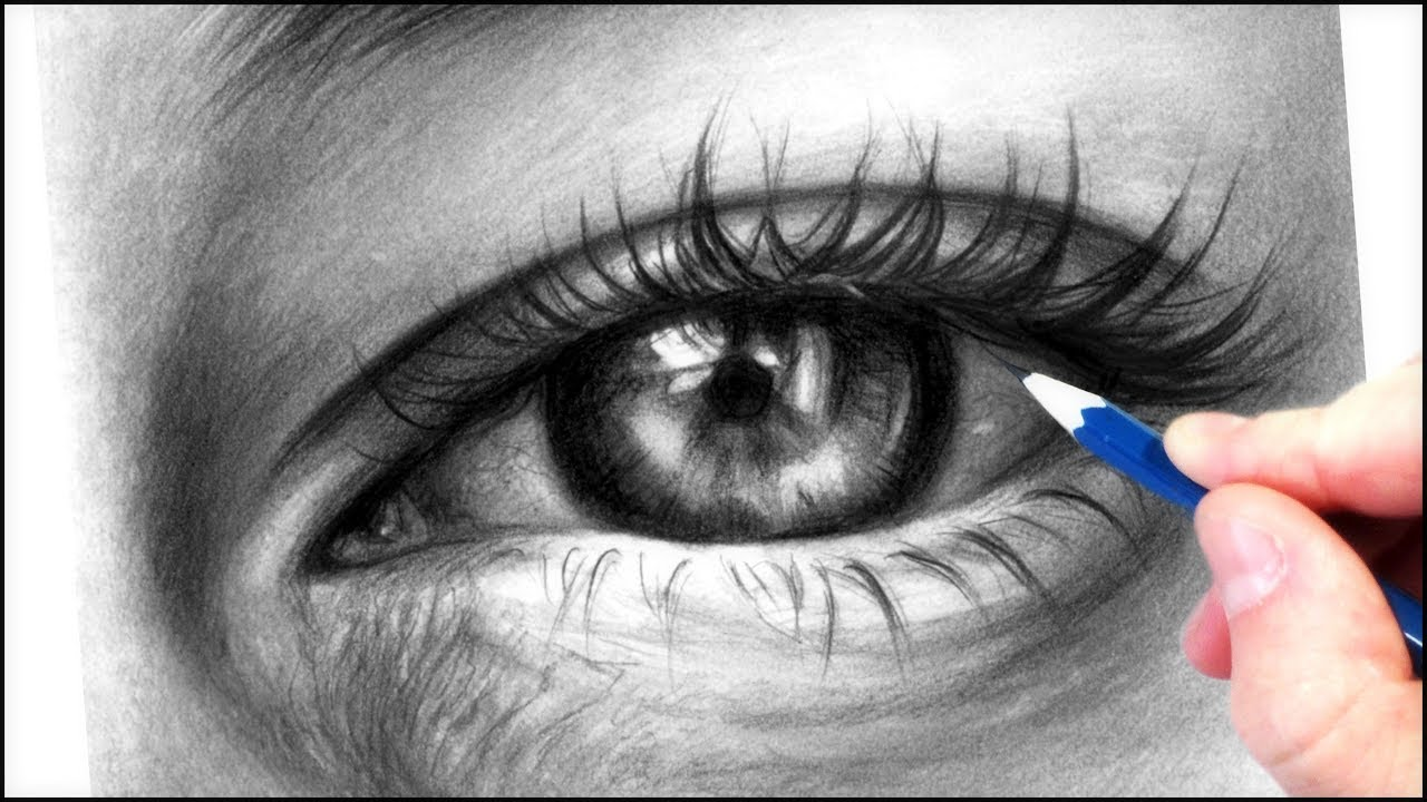 How to draw a realistic eye with graphite pencils realistic drawing tutorial step by step