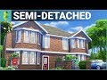 SEMI-DETACHED British Home | The Sims 4 House Building
