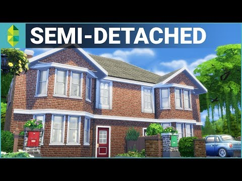 SEMI-DETACHED British Home   The Sims 4 House Building - YouTube
