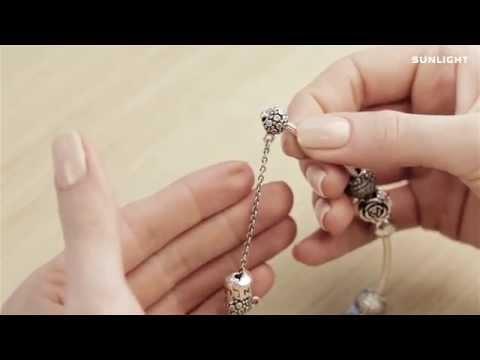 Как собрать браслет с шармами SUNLIGHT?