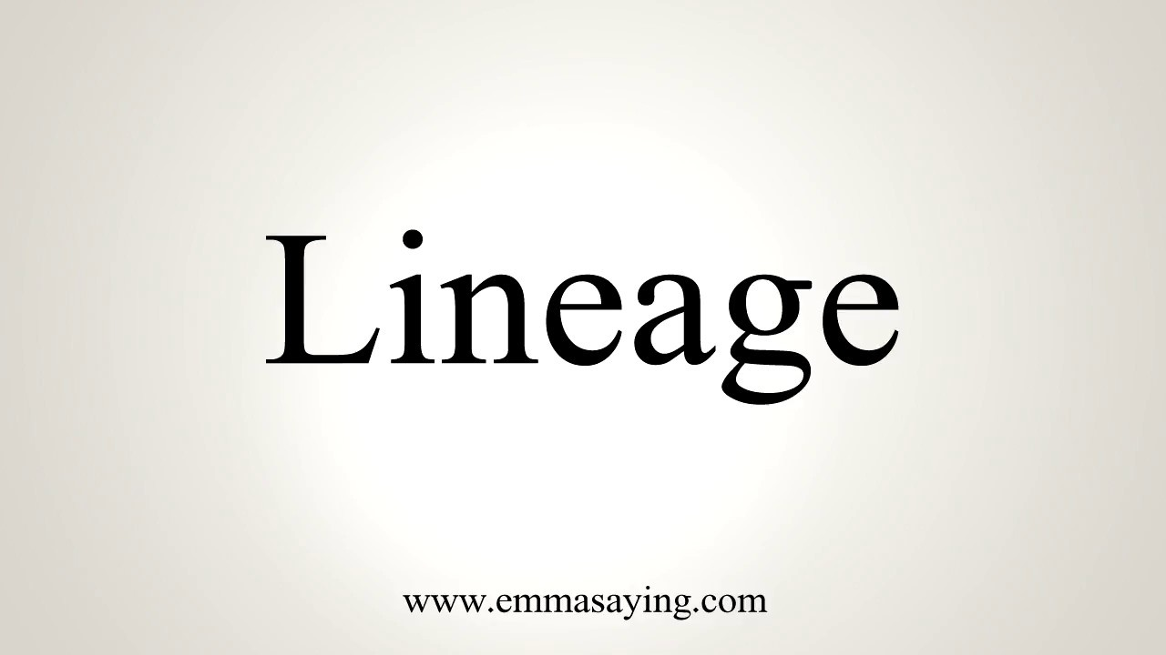How To Pronounce Lineage