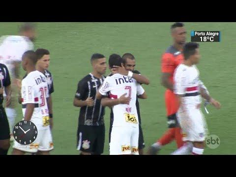 São Paulo vence clássico pela primeira vez no ano e se aproxima da final | SBT Notícias (26/03/18)
