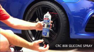 Tyre Black with Silicone spray