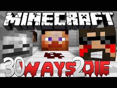 Minecraft: 30 Ways to Die   EXPLOIT THE MAP!!