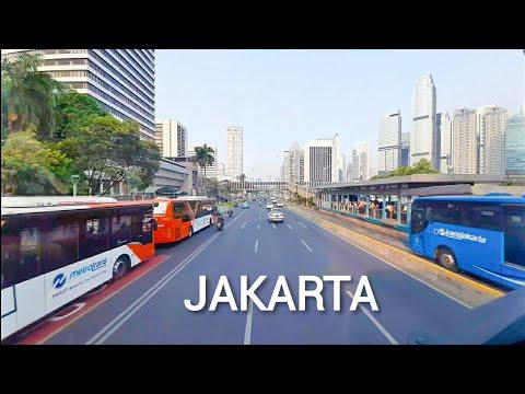 JAKARTA - Tour By Bus Downtown. Jakarta City Main Street