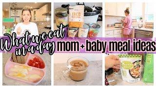*NEW* WHAT I EAT IN A DAY MOM + BABY  BLW  MEAL IDEAS + CROCKPOT RECIPE TIFFANI BEASTON HOMEMAKING