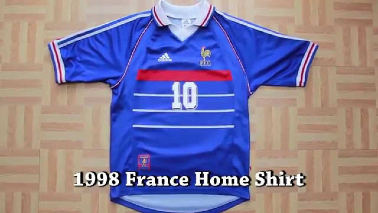 69a6bf94b FRANCE 1998 HOME FOOTBALL SHIRT ZIDANE  10 (Zinedine Zidane) - YouTube