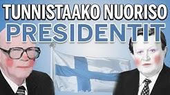 Tunnistaako Nuoriso Suomen Presidentit