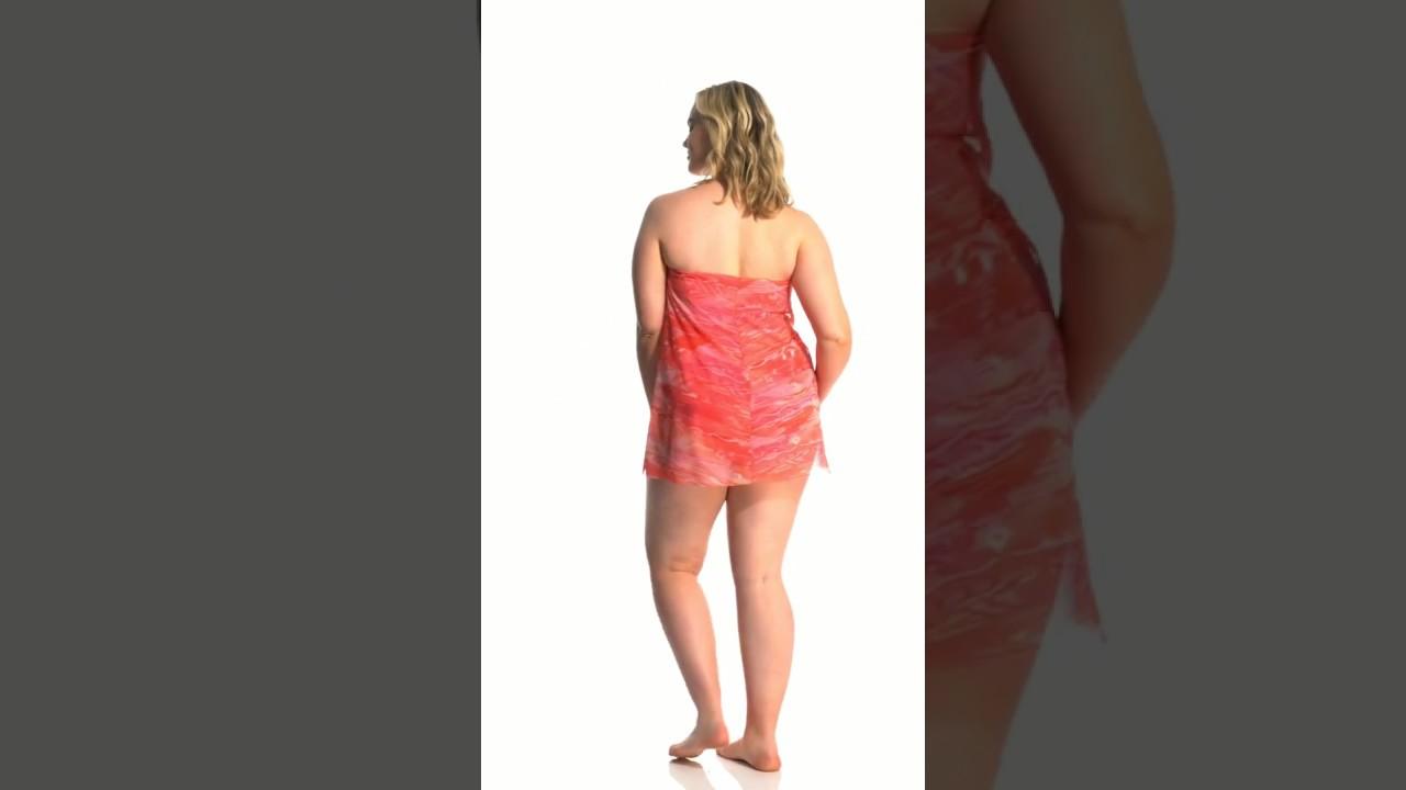 addc2c23f5391 Lauren Ralph Lauren Plus Size Calypso Ikat Flyaway One Piece Swimsuit |  SwimOutlet.com
