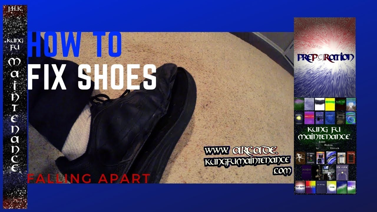 how to repair cut sole of shoe