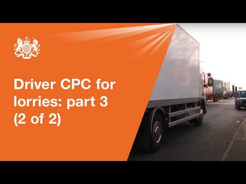 Driver CPC for lorries: module 3 - driving test (2 of 2)