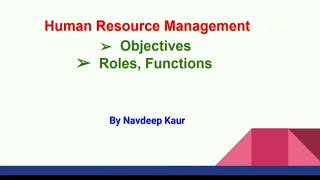 HR Objectives, Roles, Functions | in Hindi | Class 11