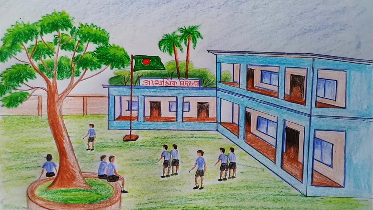 Simple School Building Drawing | www.imgkid.com - The ...