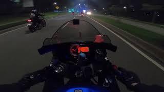 Night Ride GSX600R , cuma 270km/jam (cuma)