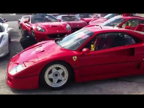 Huge Ferrari Meet!!! 22 Cars including F40!! Ferrari Owners Club in Belfast!!!