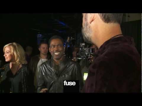 "Chris Rock & Krist Novoselic Meet Backstage at ""12-12-12"" The Concert for Sandy Relief"