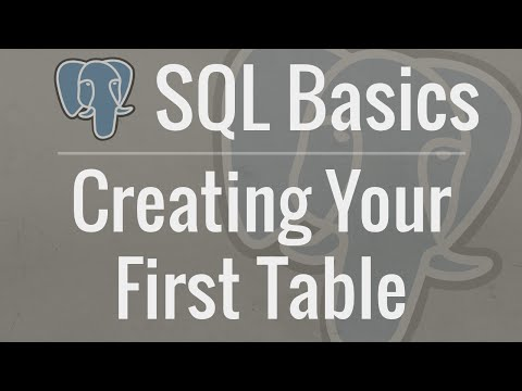 SQL Tutorial for Beginners 2: Creating Your First Table