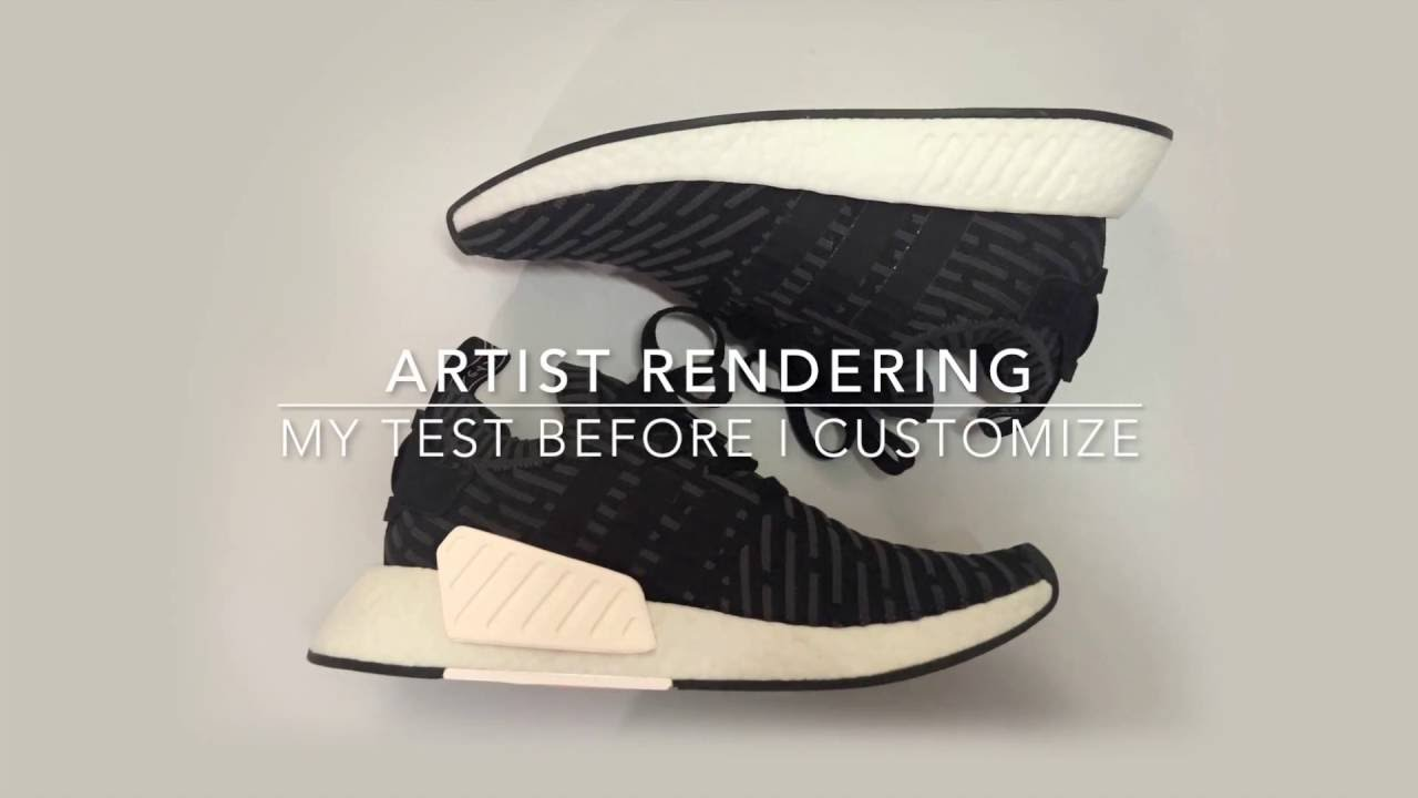 Got the Black Adidas NMD R2 to Customize (90 Second Shoe Unboxing)