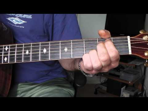 Play 'Saturday Night' by The Eagles. Guitar chords. Part 1