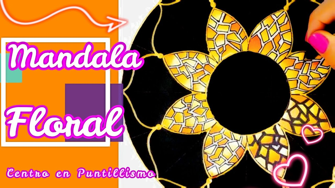 Pintando mandala floral