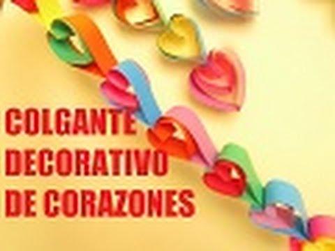 Colgante decorativo de corazones para san valentin youtube for Imagenes de techos decorados