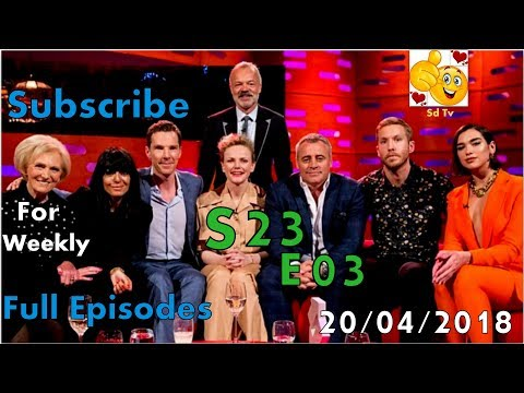 Full Graham Norton Show S23E03 Benedict Cumberbatch, Matt LeBlanc, Maxine Peake April 20, 2018