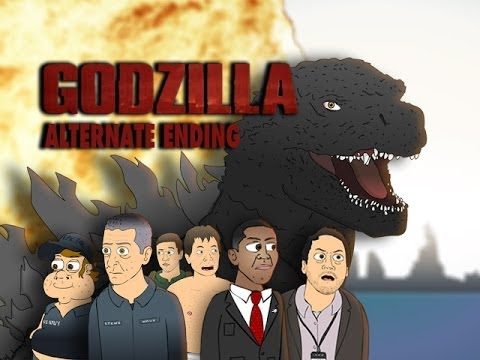 GODZILLA Alternate Ending - Cartoon Parody