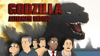 GODZILLA Alternate Ending - Cartoon Parody