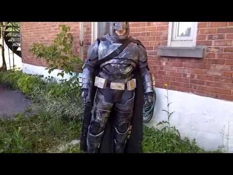 Batman vs superman armor mech costume batsuit costume batffleck cosplay