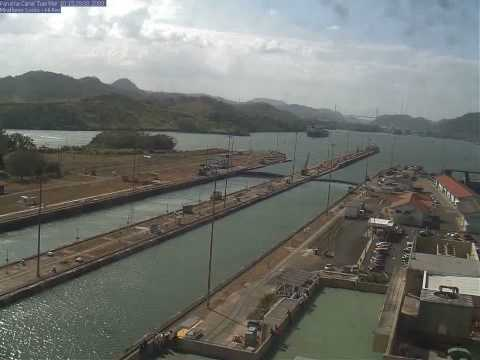 Panama Canal, Miraflores HiRes Webcam, 10 March 2009