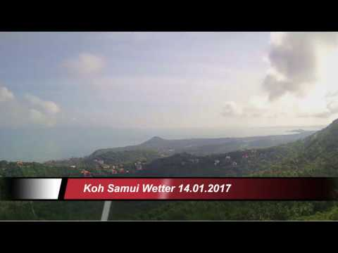 Koh Samui Wetter (Thailand) 14.01.2017