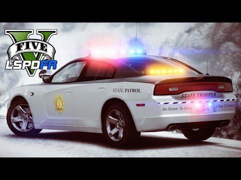 GTA 5 - LSPDFR Ep140 - Snowy Colorado State Patrol!!