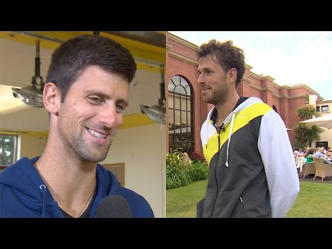 Thumbnail: Novak Djokovic and Robin Haase Joke About Getting Mistaken For Someone Else