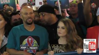 Common and Joanna 'JoJo' Levesque do AIDS Walk on Hollywood Blvd in Hollywood
