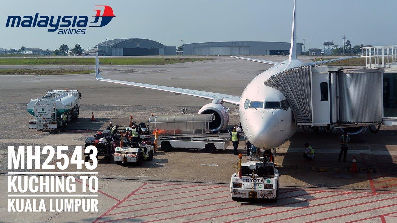 Malaysia Airlines Mh2543 Flight Experience Kuching To Kuala Lumpur Economy Class Youtube