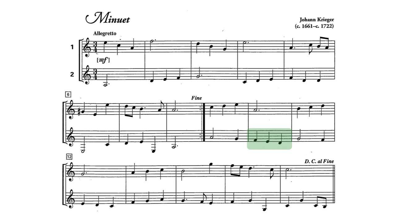 JOHANN KRIEGER MINUET IN A MINOR PDF