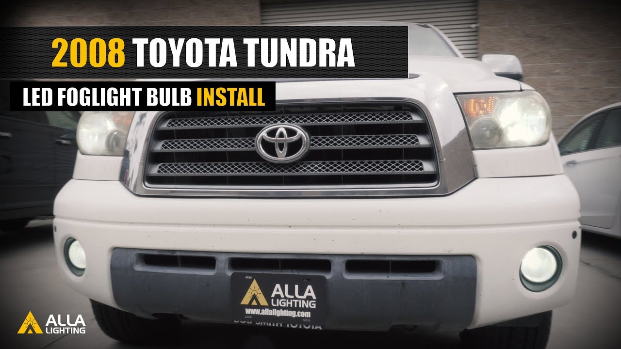 2007 2013 toyota tundra fog light bulb led replace upgrade install [ 1280 x 720 Pixel ]